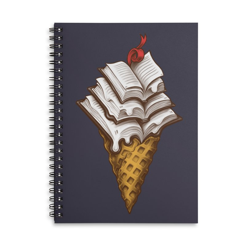 Ice Cream Books Accessories Lined Spiral Notebook by c0y0te7's Artist Shop