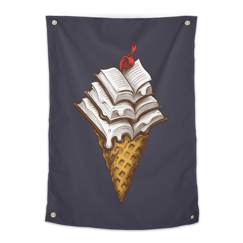 Ice Cream Books Home Tapestry by c0y0te7's Artist Shop