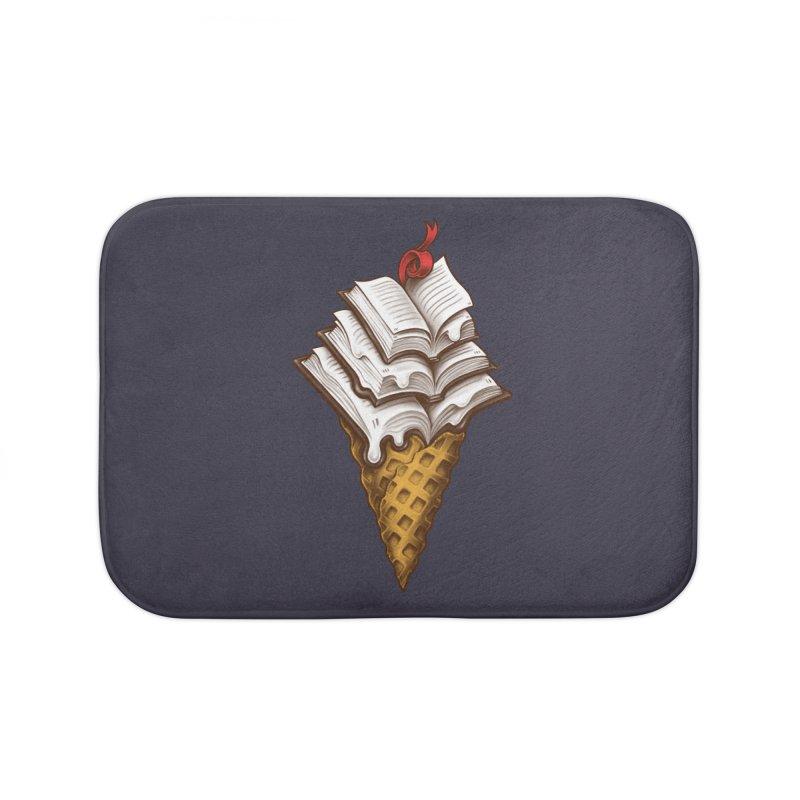 Ice Cream Books Home Bath Mat by c0y0te7's Artist Shop