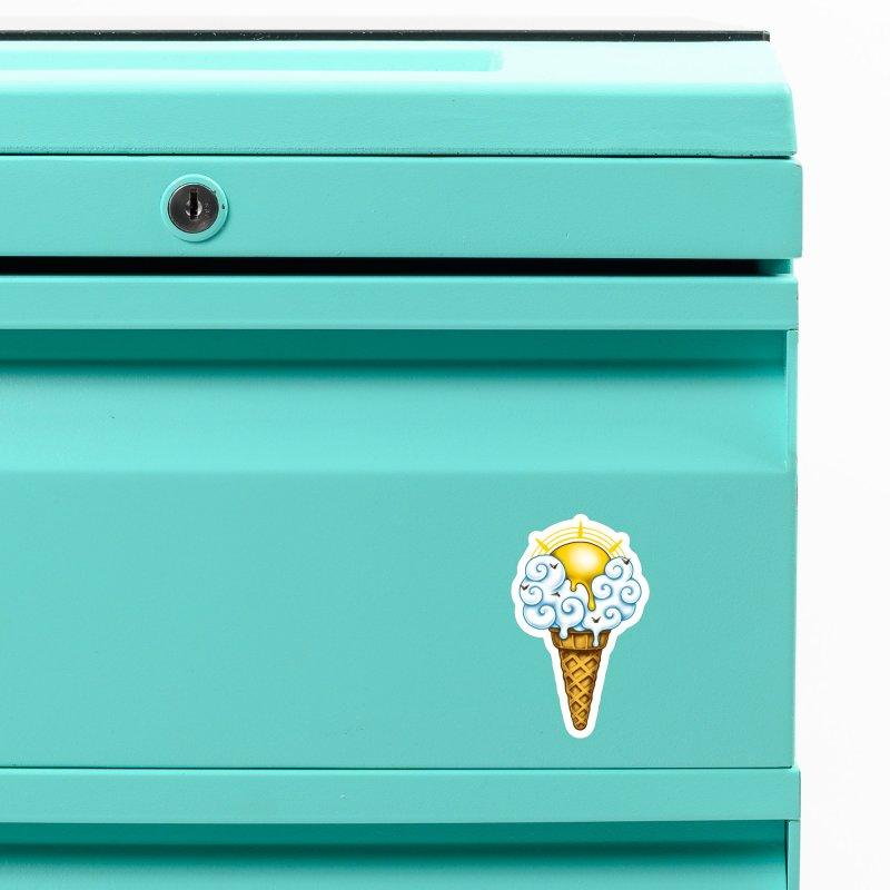 Sunny Ice Cream Accessories Magnet by c0y0te7's Artist Shop