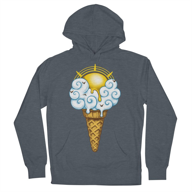 Sunny Ice Cream Men's French Terry Pullover Hoody by c0y0te7's Artist Shop
