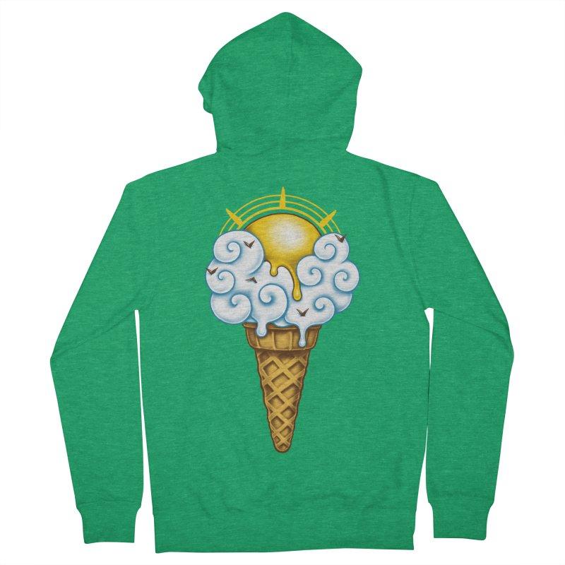 Sunny Ice Cream Women's Zip-Up Hoody by c0y0te7's Artist Shop