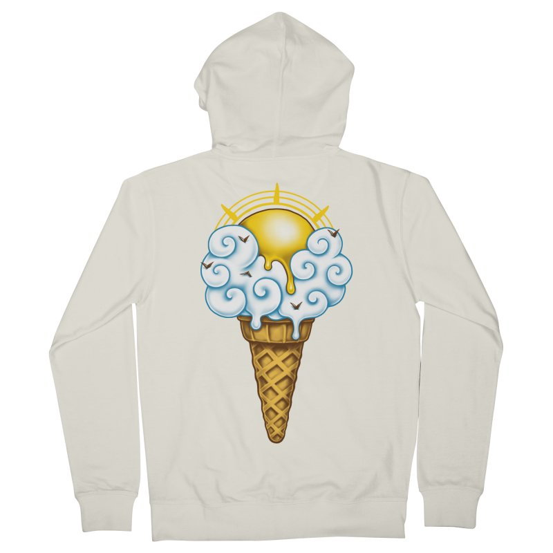 Sunny Ice Cream Women's French Terry Zip-Up Hoody by c0y0te7's Artist Shop
