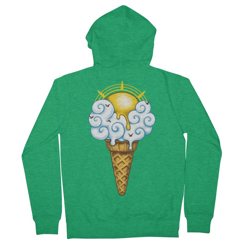 Sunny Ice Cream Men's French Terry Zip-Up Hoody by c0y0te7's Artist Shop