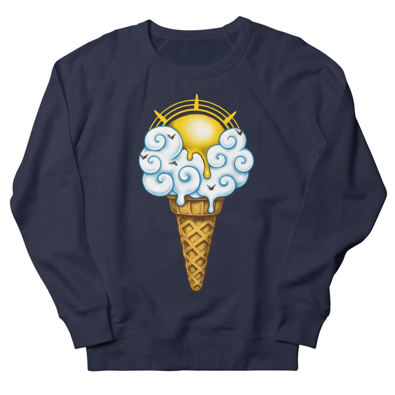 Sunny Ice Cream Men's French Terry Sweatshirt by c0y0te7's Artist Shop
