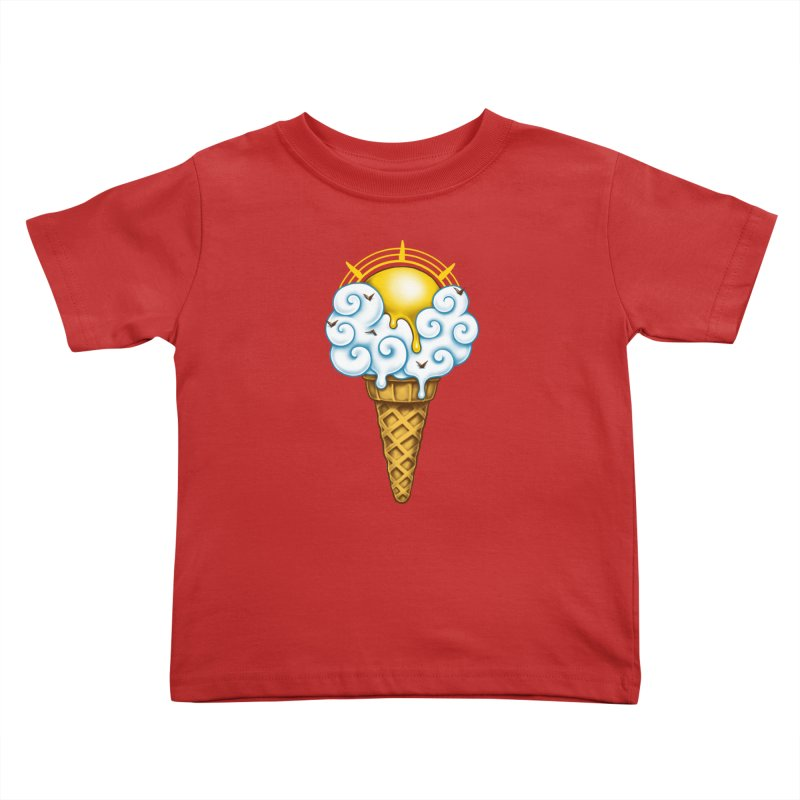 Sunny Ice Cream Kids Toddler T-Shirt by c0y0te7's Artist Shop