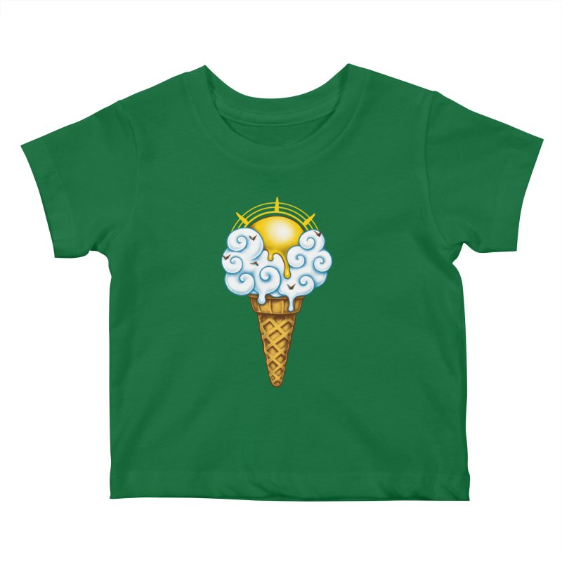 Sunny Ice Cream Kids Baby T-Shirt by c0y0te7's Artist Shop