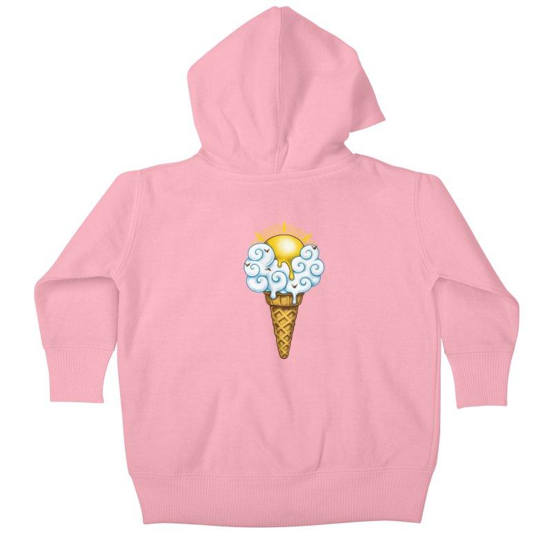 Sunny Ice Cream Kids Baby Zip-Up Hoody by c0y0te7's Artist Shop