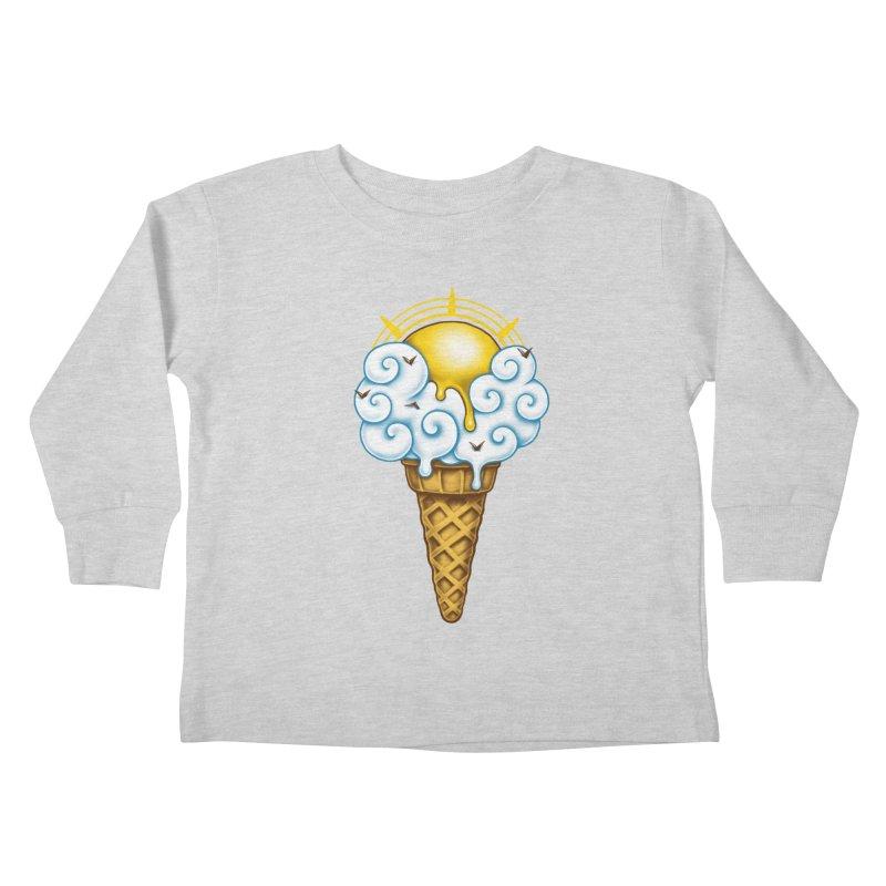 Sunny Ice Cream Kids Toddler Longsleeve T-Shirt by c0y0te7's Artist Shop