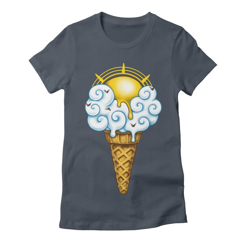 Sunny Ice Cream Women's Fitted T-Shirt by c0y0te7's Artist Shop
