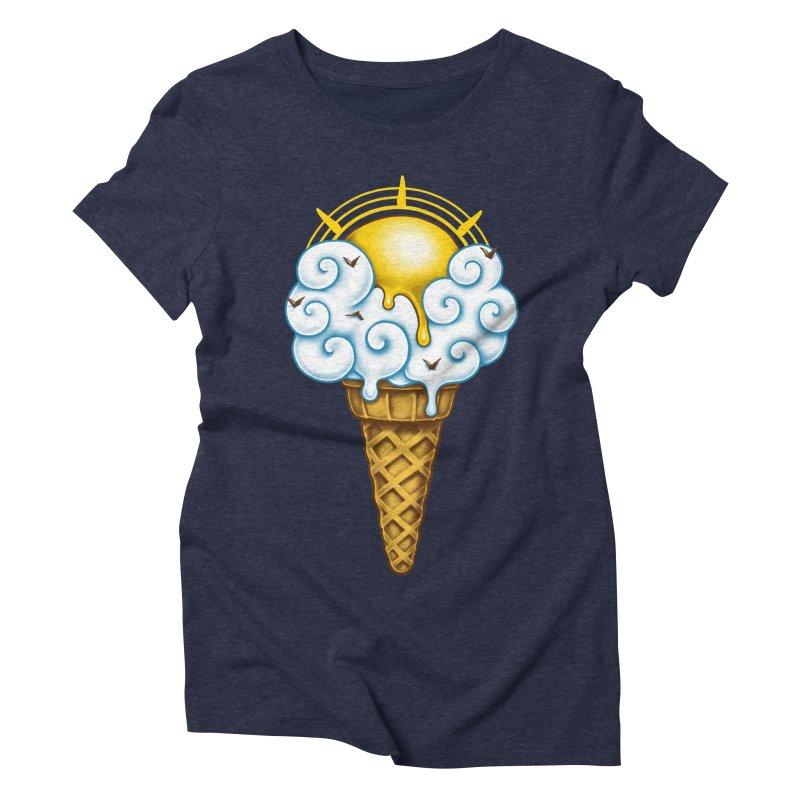 Sunny Ice Cream Women's Triblend T-Shirt by c0y0te7's Artist Shop