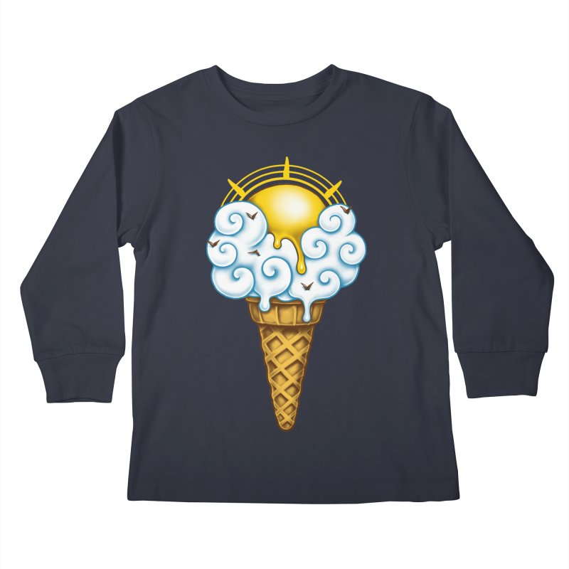Sunny Ice Cream Kids Longsleeve T-Shirt by c0y0te7's Artist Shop