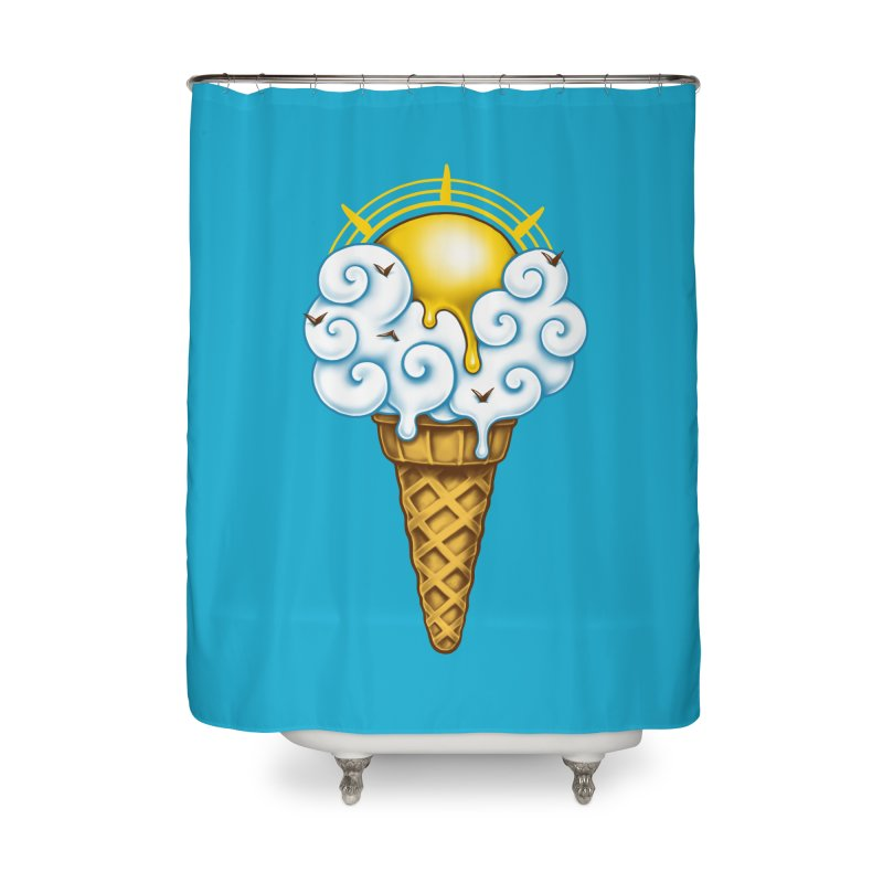 Sunny Ice Cream Home Shower Curtain by c0y0te7's Artist Shop