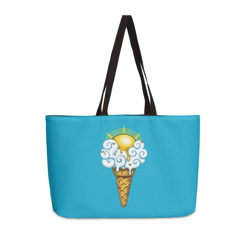Sunny Ice Cream Accessories Weekender Bag Bag by c0y0te7's Artist Shop