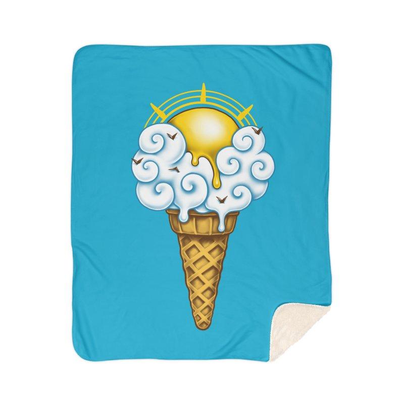 Sunny Ice Cream Home Sherpa Blanket Blanket by c0y0te7's Artist Shop
