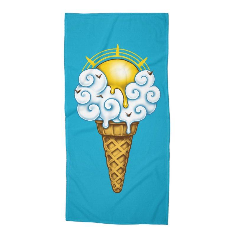 Sunny Ice Cream Accessories Beach Towel by c0y0te7's Artist Shop