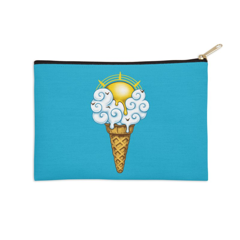 Sunny Ice Cream Accessories Zip Pouch by c0y0te7's Artist Shop