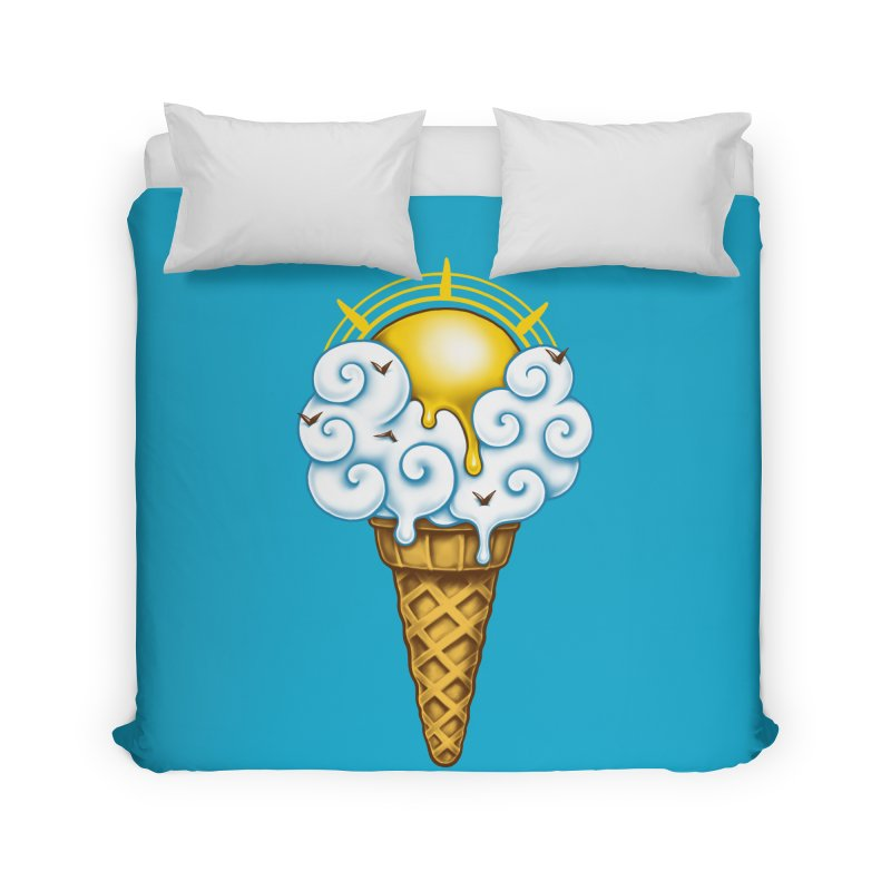 Sunny Ice Cream Home Duvet by c0y0te7's Artist Shop