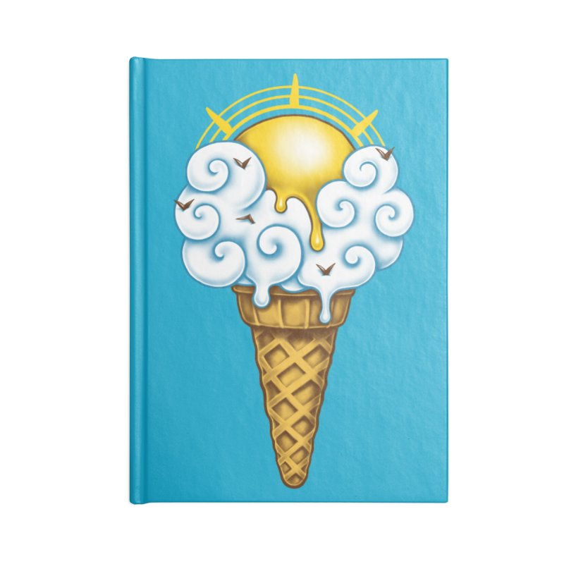 Sunny Ice Cream Accessories Blank Journal Notebook by c0y0te7's Artist Shop