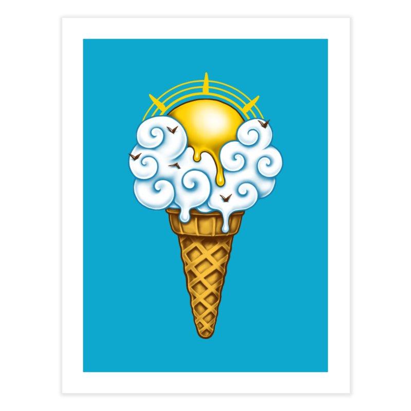 Sunny Ice Cream Home Fine Art Print by c0y0te7's Artist Shop