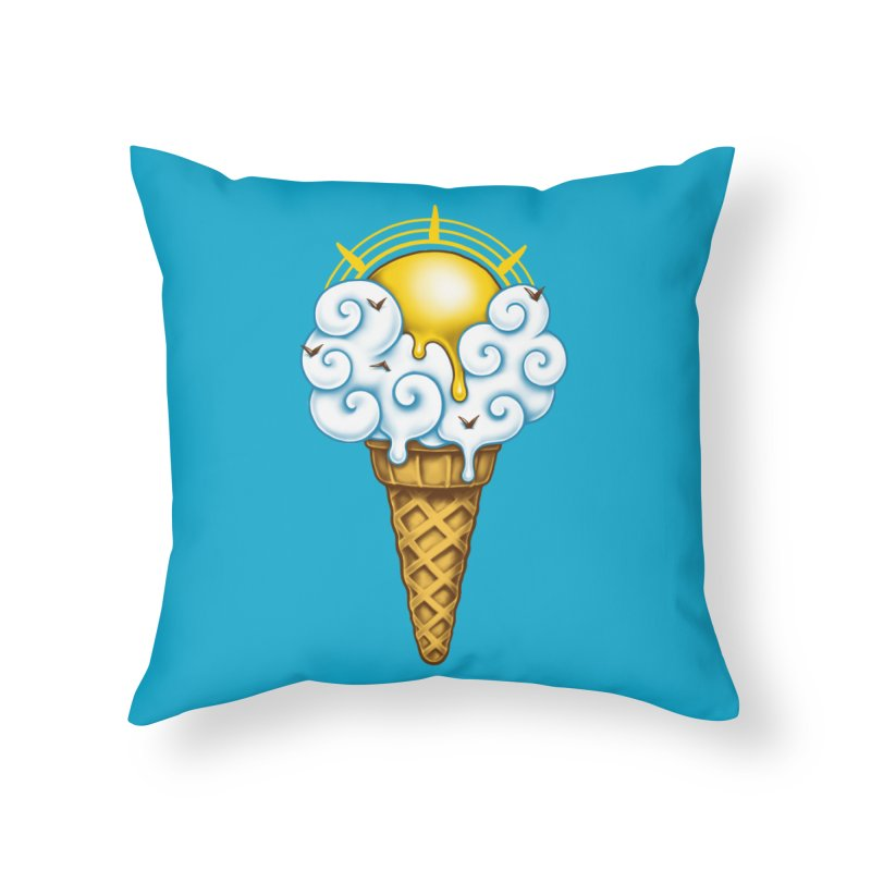 Sunny Ice Cream Home Throw Pillow by c0y0te7's Artist Shop