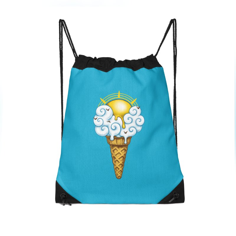 Sunny Ice Cream Accessories Drawstring Bag Bag by c0y0te7's Artist Shop