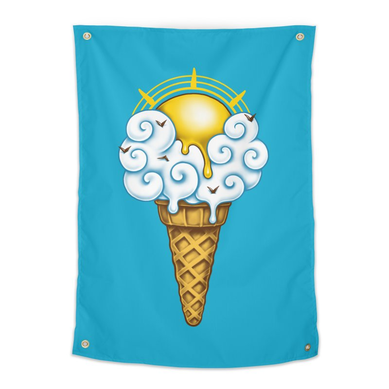 Sunny Ice Cream Home Tapestry by c0y0te7's Artist Shop