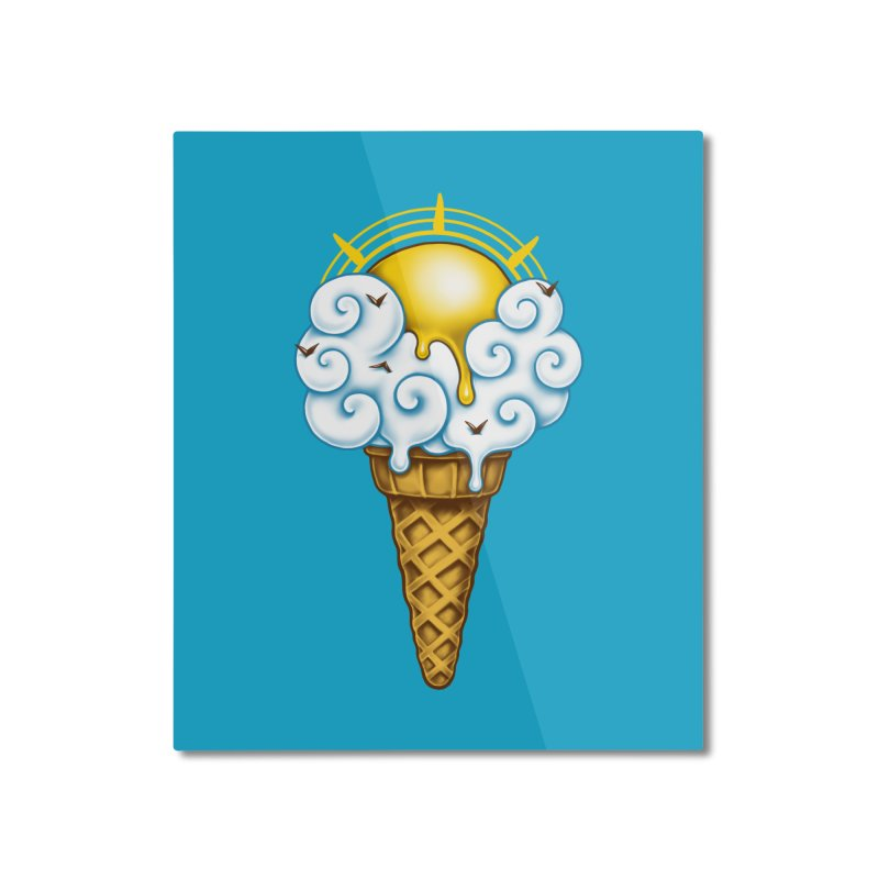 Sunny Ice Cream Home Mounted Aluminum Print by c0y0te7's Artist Shop