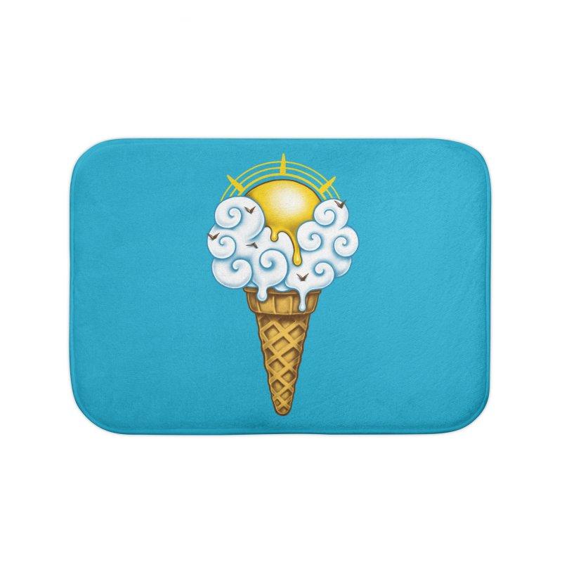 Sunny Ice Cream Home Bath Mat by c0y0te7's Artist Shop