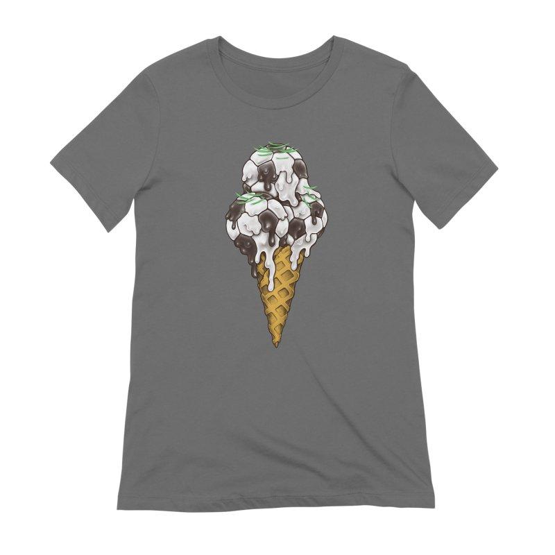 Ice Cream Soccer Balls Women's T-Shirt by c0y0te7's Artist Shop