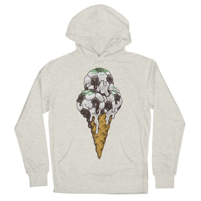 Ice Cream Soccer Balls Women's French Terry Pullover Hoody by c0y0te7's Artist Shop