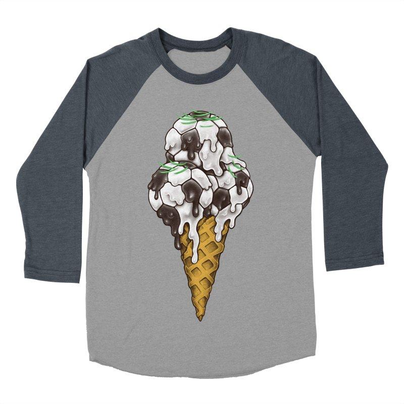 Ice Cream Soccer Balls Women's Baseball Triblend Longsleeve T-Shirt by c0y0te7's Artist Shop