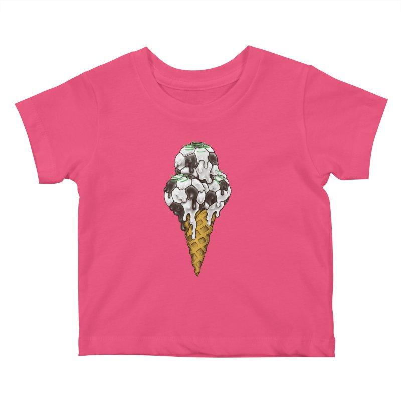 Ice Cream Soccer Balls Kids Baby T-Shirt by c0y0te7's Artist Shop