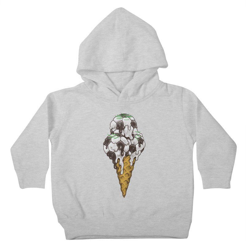 Ice Cream Soccer Balls Kids Toddler Pullover Hoody by c0y0te7's Artist Shop