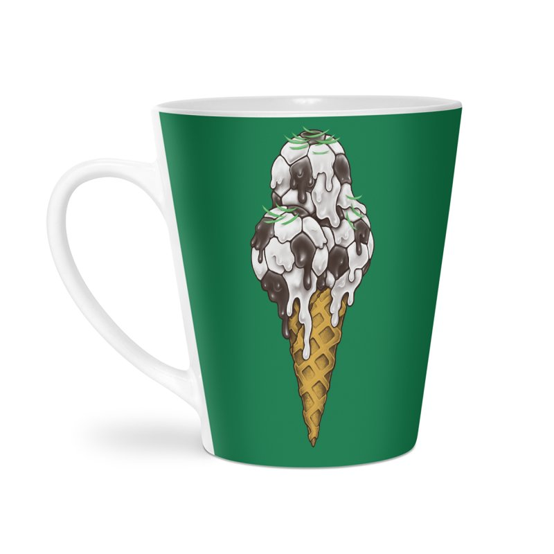 Ice Cream Soccer Balls Accessories Latte Mug by c0y0te7's Artist Shop
