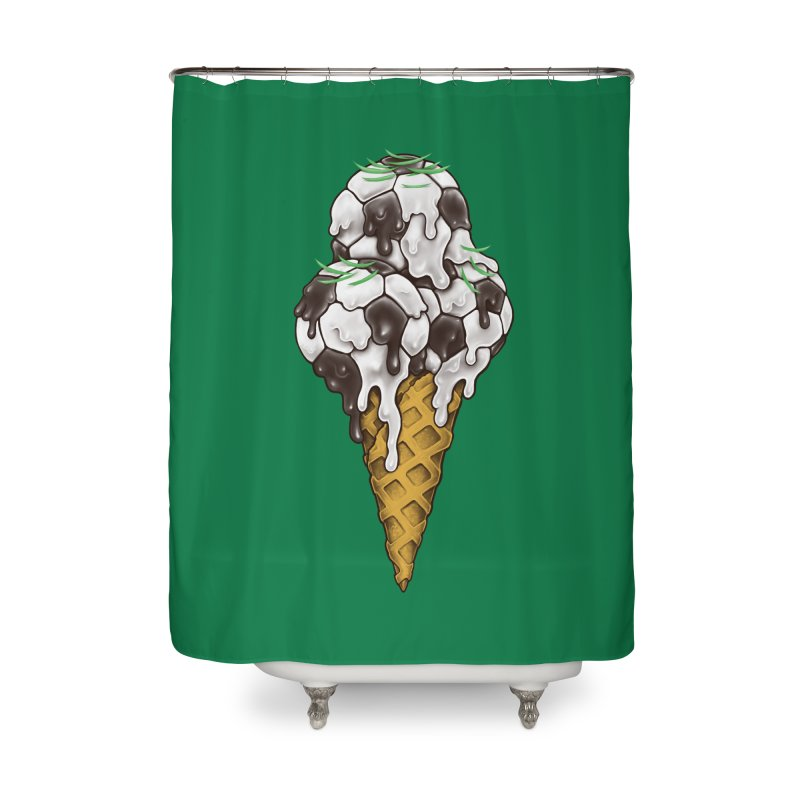 Ice Cream Soccer Balls Home Shower Curtain by c0y0te7's Artist Shop
