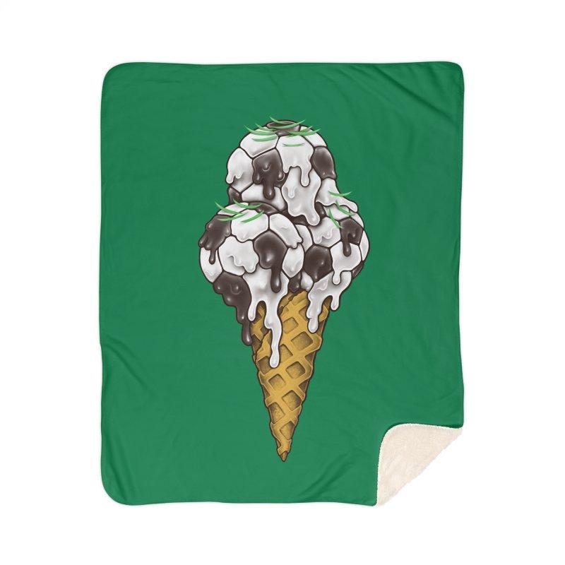 Ice Cream Soccer Balls Home Sherpa Blanket Blanket by c0y0te7's Artist Shop