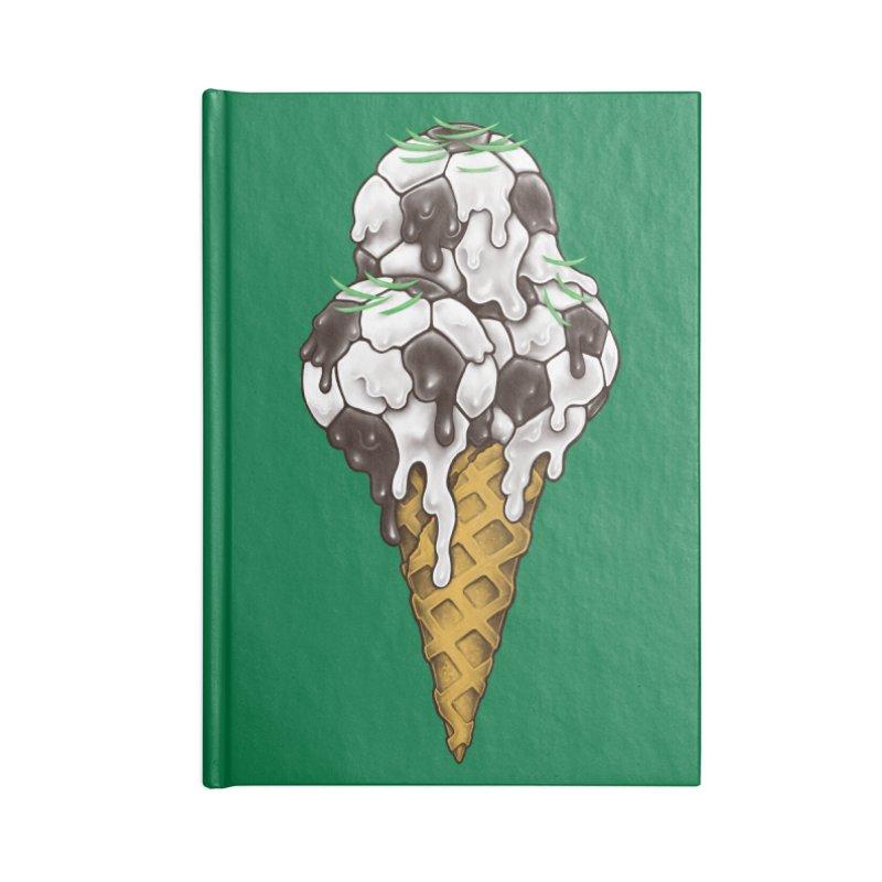 Ice Cream Soccer Balls Accessories Notebook by c0y0te7's Artist Shop