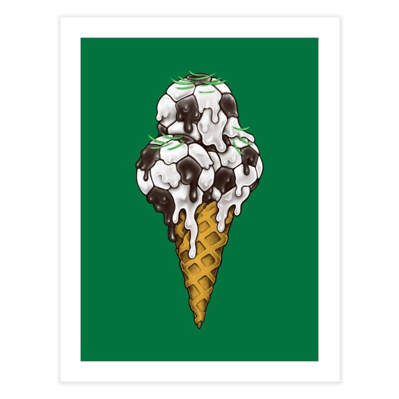 Ice Cream Soccer Balls Home Fine Art Print by c0y0te7's Artist Shop