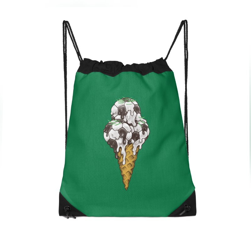 Ice Cream Soccer Balls Accessories Drawstring Bag Bag by c0y0te7's Artist Shop