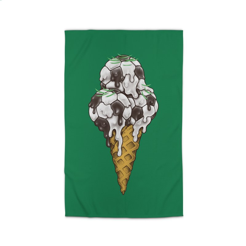 Ice Cream Soccer Balls Home Rug by c0y0te7's Artist Shop