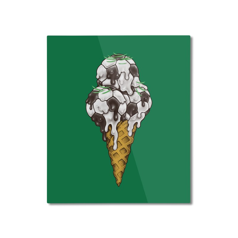 Ice Cream Soccer Balls Home Mounted Aluminum Print by c0y0te7's Artist Shop