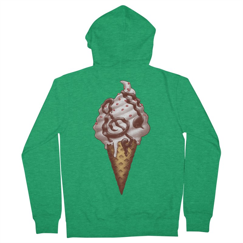 Ice Cream Music Note Women's Zip-Up Hoody by c0y0te7's Artist Shop