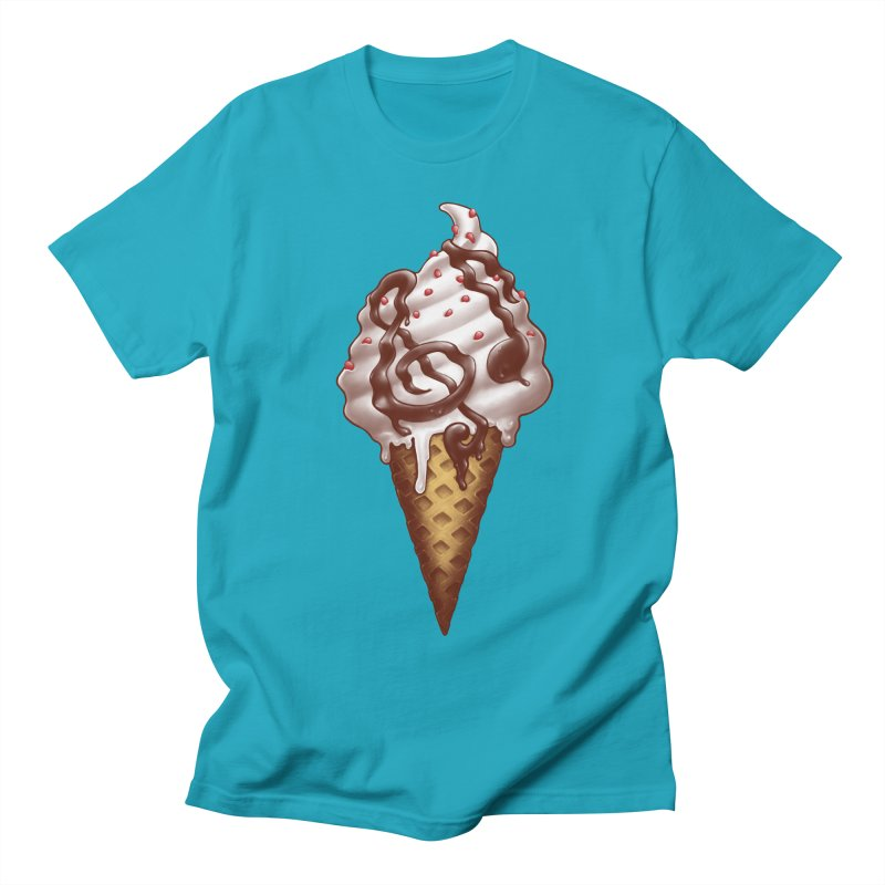 Ice Cream Music Note Women's Regular Unisex T-Shirt by c0y0te7's Artist Shop