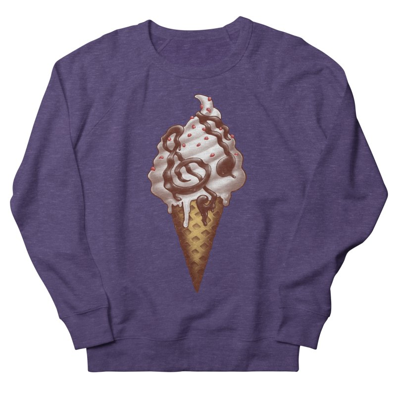 Ice Cream Music Note Men's French Terry Sweatshirt by c0y0te7's Artist Shop