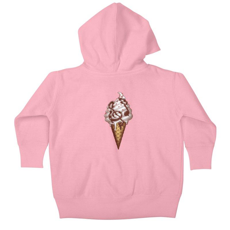 Ice Cream Music Note Kids Baby Zip-Up Hoody by c0y0te7's Artist Shop