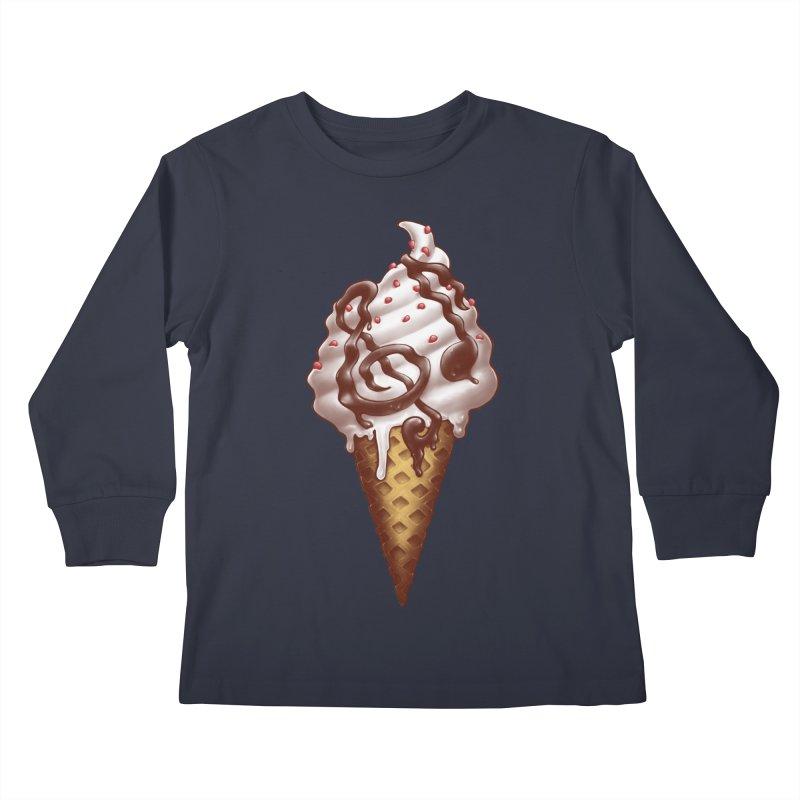 Ice Cream Music Note Kids Longsleeve T-Shirt by c0y0te7's Artist Shop