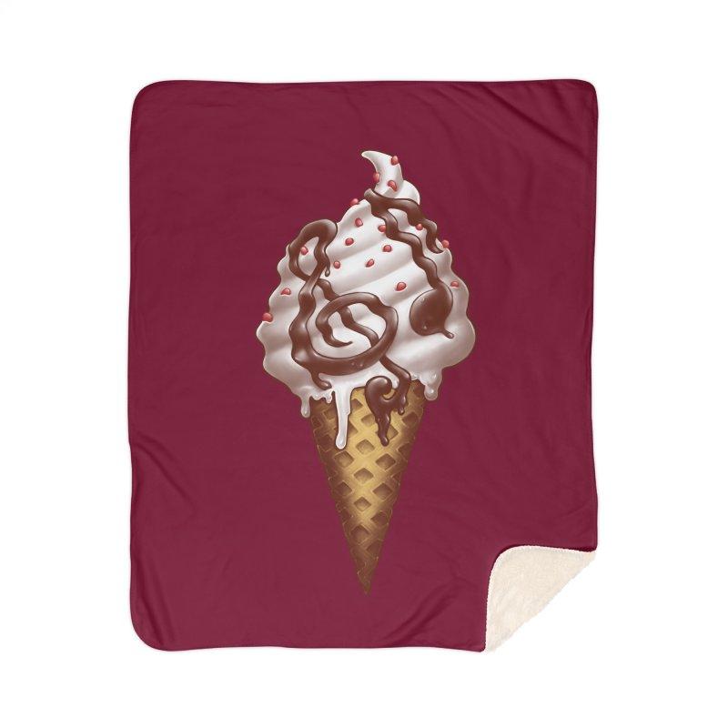 Ice Cream Music Note Home Sherpa Blanket Blanket by c0y0te7's Artist Shop