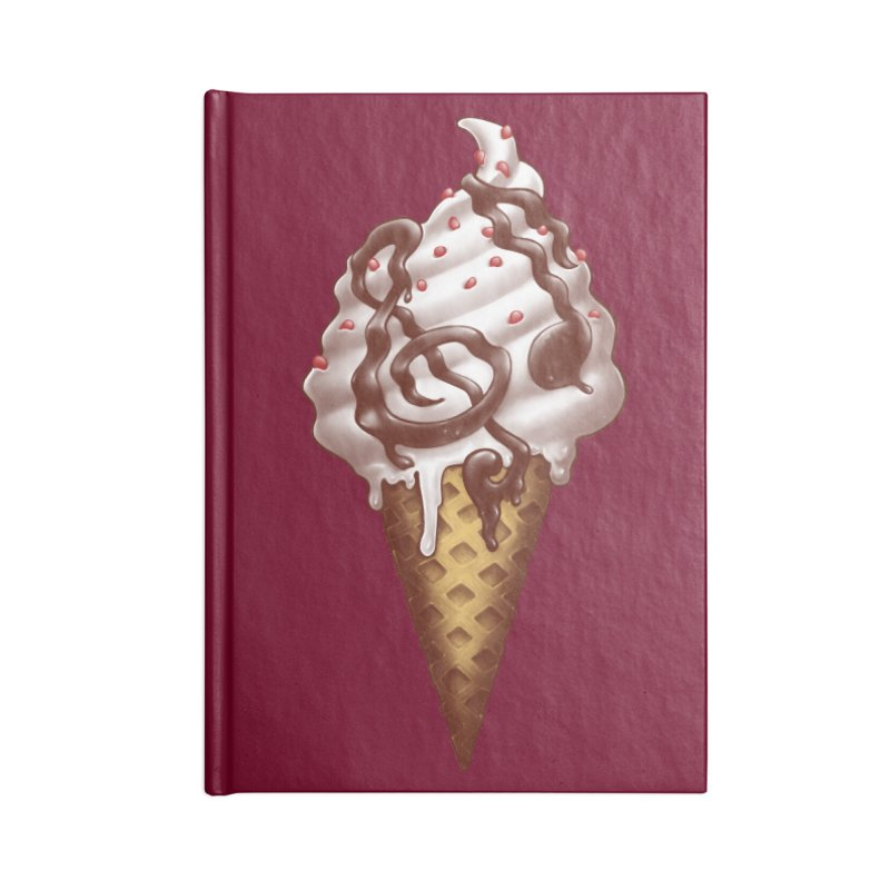 Ice Cream Music Note Accessories Notebook by c0y0te7's Artist Shop