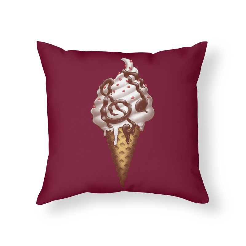Ice Cream Music Note Home Throw Pillow by c0y0te7's Artist Shop